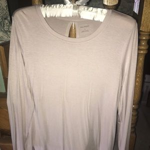 Halogen Creme Long Sleeve XS Top
